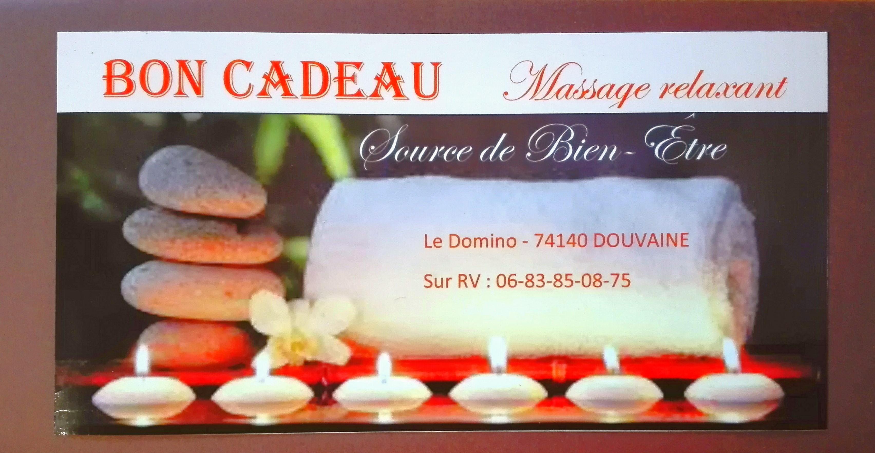 Massage californien Source de bien-être Douvaine