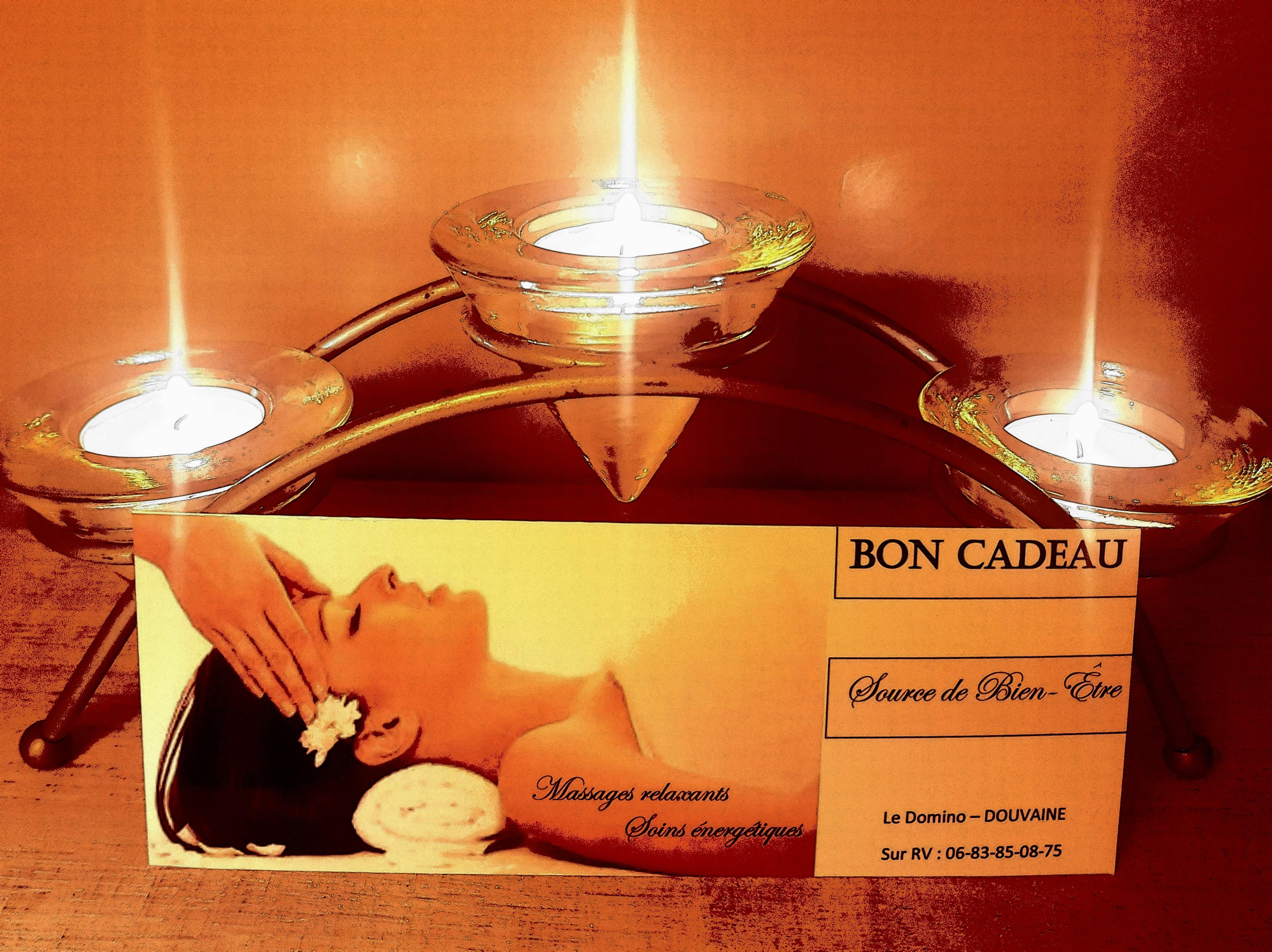 Bon cadeau massage Douvaine