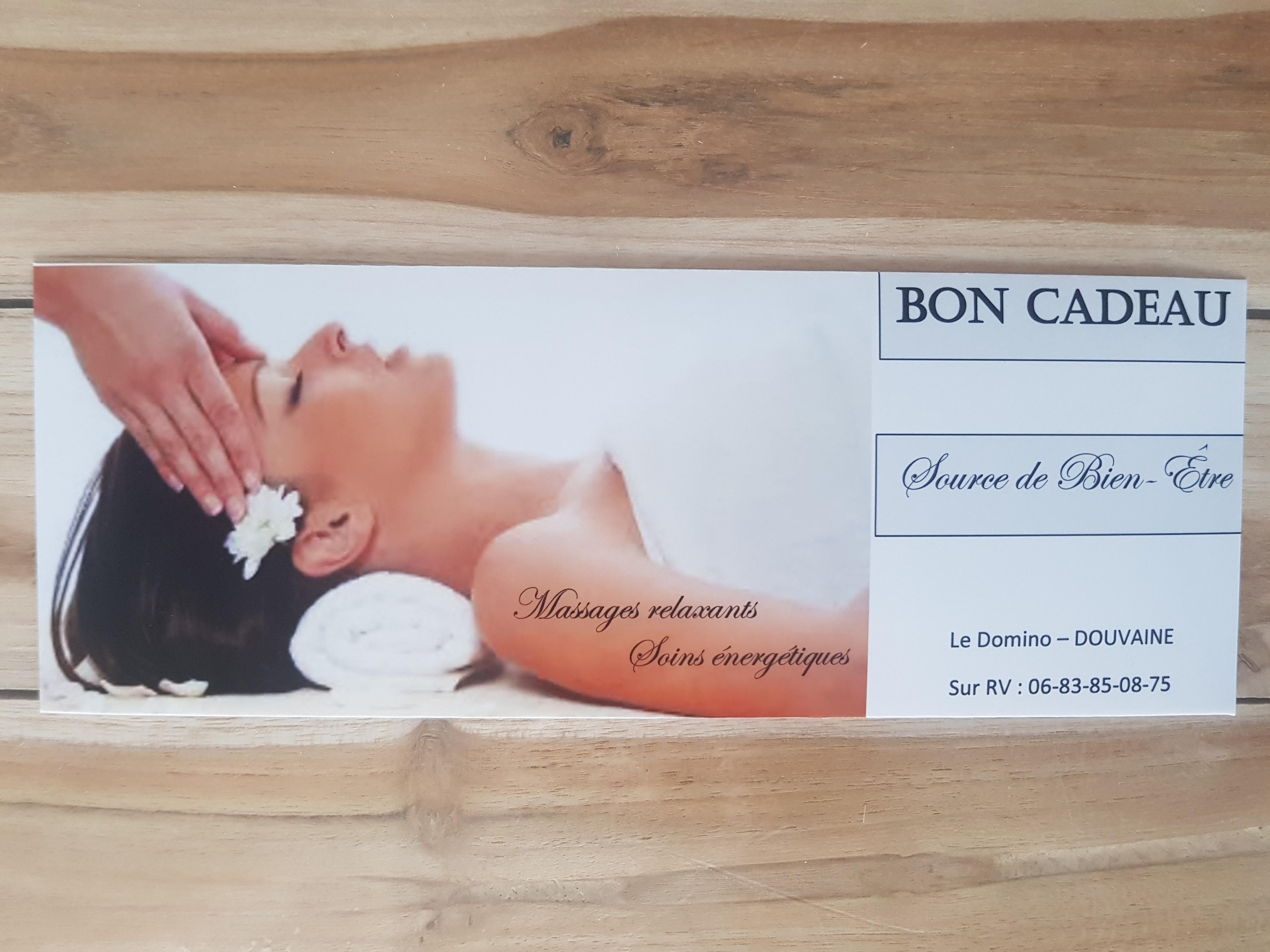 Massage Douvaine Cadeau Noël